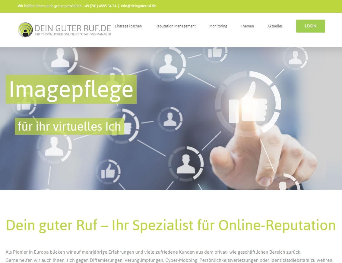 DeinguterRuf. de relaunched Webseite Screenshot
