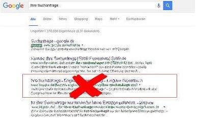 Google Einträge löschen - Dein guter Ruf Grafik