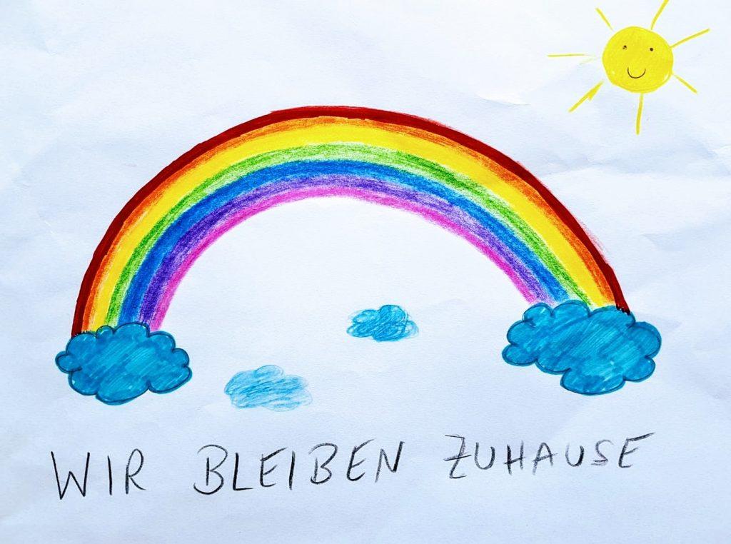 Regenbogen - #WirbleibenZuhause - DeinguterRuf.de unterstützt Unternehmen und Privatpersonen dabei die Chancen der derzeitigen Corona Krise zu ergreifen.